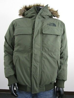 NWT Mens TNF The North Face Gotham 550-Down Parka Insulated Hooded Jacket Green