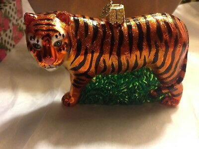 Old World Christmas Tiger Glass Ornament