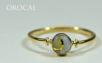 """Gold Quartz Ring """"Orocal"""" RL680Q Genuine Hand Crafted Jewelry - 14K Gold Casting"""