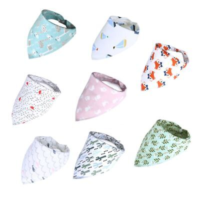 Infant Baby Cotton Feeding Towel Bibs Triangle Scarf Bandana Burp Cloth