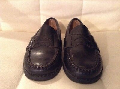 a8c5eba67ed SPERRY TOP SIDER COLTON Boys Size 5.5 M Black Leather Penny Loafer ...