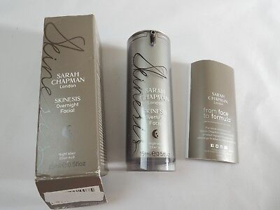 Sarah Chapman London Skinesis Overnight Facial NIB 0.5 oz FULL SIZE