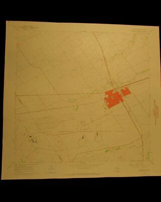 McGregor Texas vintage 1969 original USGS Topographical chart