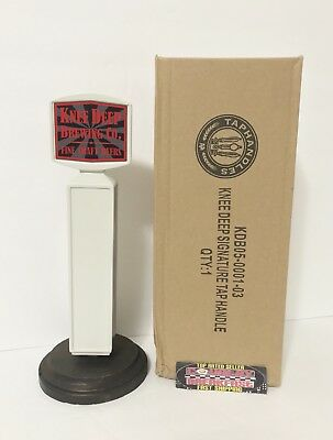 "Knee Deep Brewing Company Logo Beer Tap Handle 9"" Tall - Brand New In Box!"