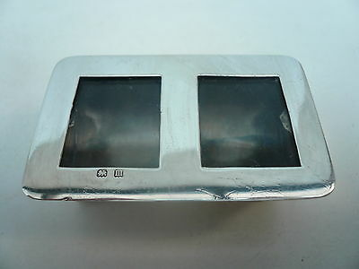 Silver Stamp Box, Sterling, Antique, Hallmarked 1911, 2 Compartment