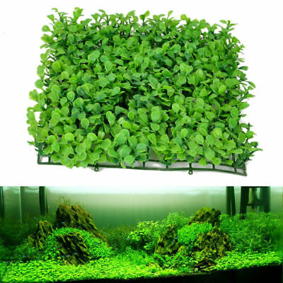 Green Plastic Aquatic Grass Plant Lawn Fish Tank Landscape Aquarium Decor