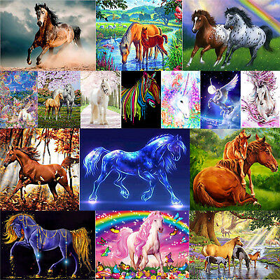 5D DIY Horse Series Diamond Painting Embroidery Mosaic Cross Stitch Kits Decor