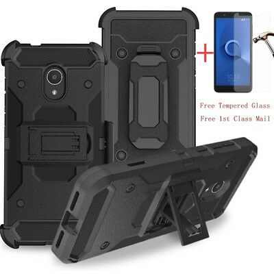 For Alcatel TCL LX/Ideal XTRA/1X Evolve Phone Case Holster Clip Stand Hard Cover