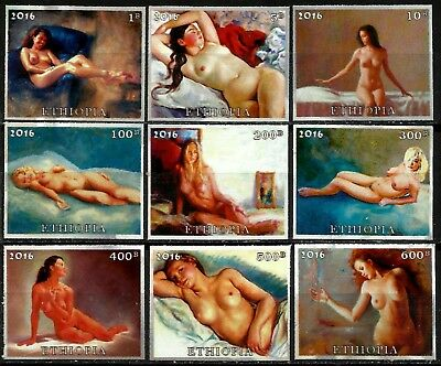 Nude Girls, Private Issue, Ethiopia, Unperf., Mng, Year 2016, Full Set, Lot 5954