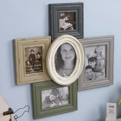 Collage Photo Frames Shabby Chic Wood Pictures Home Wall Mount Decoration Colors