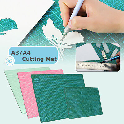 A3 A4 3-Ply Double Faced Self Healing Craft Cutting Mat Quilting Scrapbooking