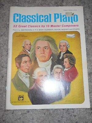 Alfred CLASSICAL PIANO Music Book: 32 Great Classics by 13 Master Composers