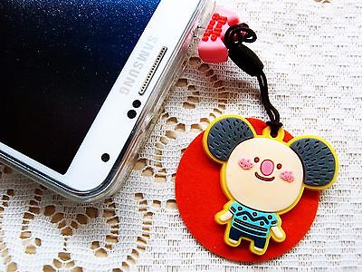Hello Geeks Port Dust Cover Plug Cleaner Ear-cap Decoration Mobile Accessories A
