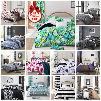 New 100% Cotton&Poly 3pcs Duvet Cover Bedding Set With Matching Pillow Cases