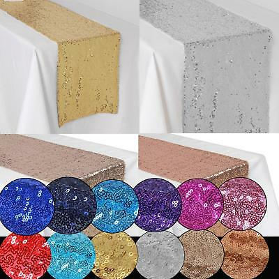 Sequin Table Runner Cloth Glitter Sparkly Shiny Bling Material Wedding Decor 8C