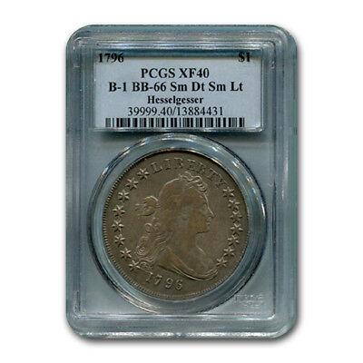 1796 Draped Bust Dollar XF-40 PCGS (Sm. Date, Sm. Letters) - SKU#180710