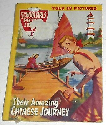 #73 Schoolgirl's Picture Library Comics ~ THEIR AMAZING CHINESE JOURNEY ~ 1959