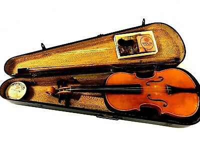 Antique Violin, Copy of Antonius Stradivarias with Case and Strings