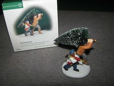 """Vintage Dept 56 Dickens Village """"The Perfect Tree"""" #56.56645 Christmas Boy Axe"""
