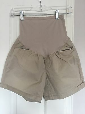 Old Navy Maternity Women's Tan Casual Shorts with Full Panel Coverage Size 4