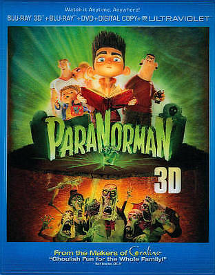 ParaNorman (2012) 3D + 2D Blu-Ray + DVD NEW Factory Sealed, Free Shipping