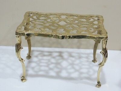 Vintage Art Deco. Solid Brass Small Stool or Plant Stand