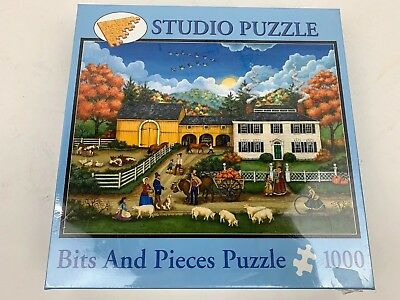 BITS AND PIECES PUZZLE AN EARLY VISIT FROM SANTA BONNIE WHITE 1000 PCS #41732