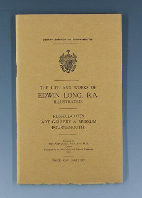 Seltenes Heft The Life and works of EDWIN LONG wohl um 1931