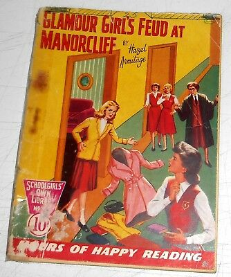 #288 Schoolgirl's Own Library Comics ~ GLAMOUR GIRLS FEUD AT MANORCLIFF ~ 1958