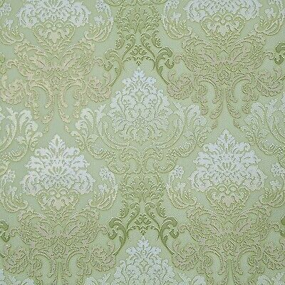 Vintage style acrylic Wallpaper red gold glitter victorian damask 3D textured