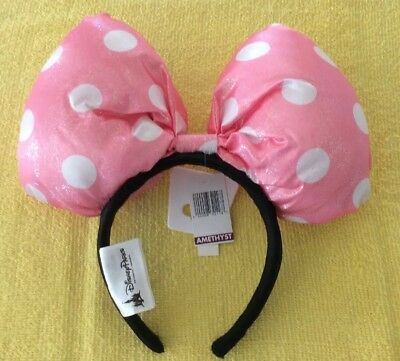 Disney Parks Minnie Mouse Ears Headband Pink And White Dot brand new
