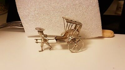 Quality Antique Chinese Export Solid Silver Model Rickshaw Wang Hing ?