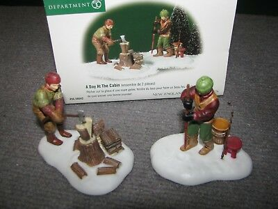 """Vintage Dept 56 Dickens Village """"A Day At The Cabin"""" #56.56642 Christmas"""
