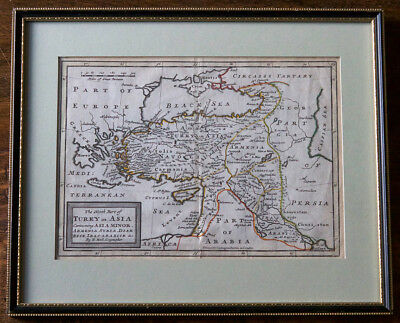 Herman Moll – Turkey in Asia – Original Antique 18th Century map – NO RESERVE