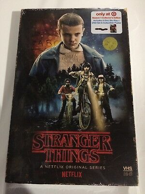 New Stranger Things Season 1 Bluray Dvd Target Exclusive Vhs Packing + Poster