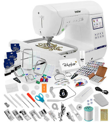 """BROTHER PE4000D PE 4000 D 400""""x400"""" Embroidery Machine With BuiltIn Delectable Brother 550 Sewing Machine"""