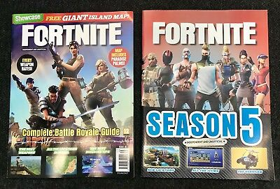 NEW -  2 X fORTNITE MAGAZINES 2018 Includes Map And Poster