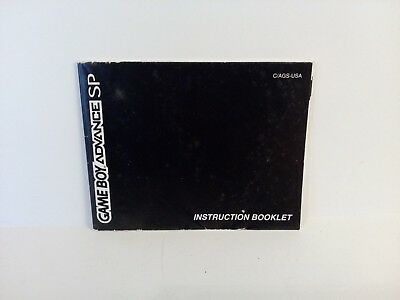 Nintendo Game Boy Advance SP Instruction Manual Insert Fold Out Booklet
