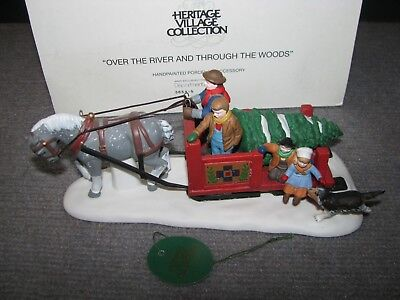 """Vintage Dept 56 Dickens Village """"Over The River and Through The Woods"""" #5654-5"""