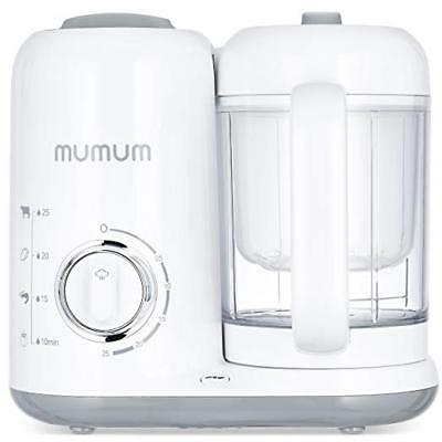 Mumum Baby 4-in-1 Baby Food Maker, Defrost,Steam, Cook & Blend w/ Built in Timer