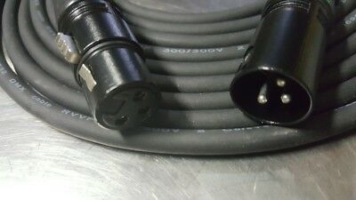 DMX Cable 3 pin XLR male female cables for stage lighting DJ  5ft thru 100ft