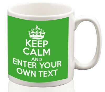 Keep Calm Personalised Mug Coffee tea cup ideal gift custom writing or name