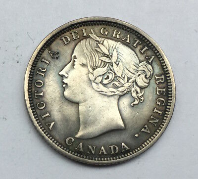 Canada Silver 20 Cents 1858