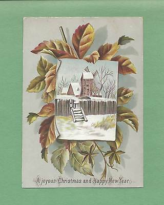 LOVELY Authentic Embossed Unused Victorian CHRISTMAS Greeting Card