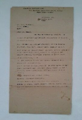 ORIGINAL EXUMATION / AUTOPSY REPORT Dated Sept. 1, 1922 Test for Chemical Poison