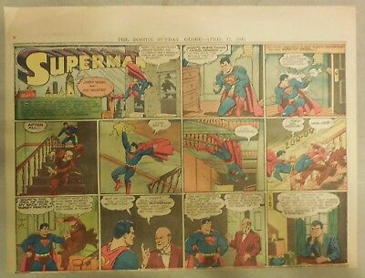 Superman Sunday Page #128 by Siegel & Shuster from 4/12/1942 Half Page:Year #3!