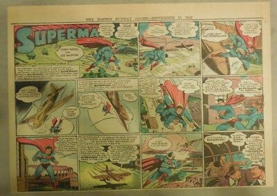Superman Sunday Page #150 by Siegel & Shuster from 9/13/1942 Half Page:Year #4!