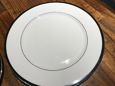 Lenox Leigh  Debut Collection Salad Plate  Gold Rim Fine Bone China 8 1/8  In