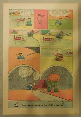 Krazy Kat Sunday by George Herriman from 4/16/1944 Tabloid Size Page Last Year!