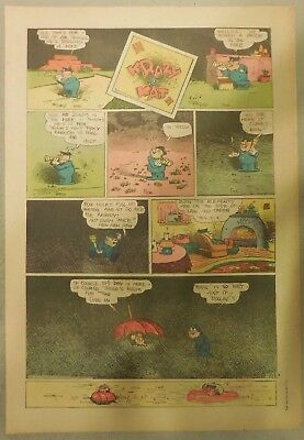 Krazy Kat Sunday by George Herriman from 1/23/1944 Tabloid Size Page Last Year!